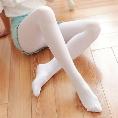 White Autumn Opaque 200D Footed Pantyhose Tights Velvet Thick Women Stockings