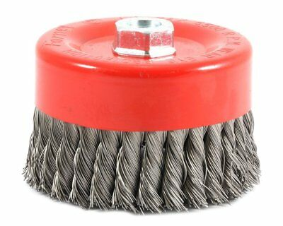 "Forney 72756 6 Inch Wire Brush Coarse Knotted Wire Cup Brush With 5/8""-11 Nut"