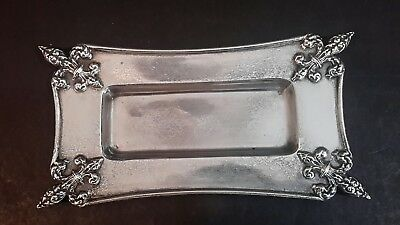 Antique R. Wallace & Son Sterling Silver Trinket Tray Fleur-De-Lis 81.50 Grams