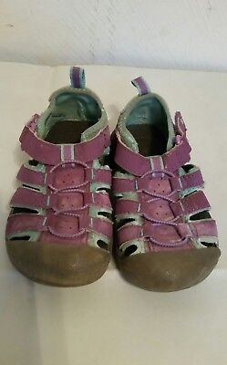 Toddler Girls Jumping Beans Purple & Turquoise Closed Toe Sandals Size 8 Med