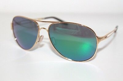 Oakley Caveat Sunglasses OO4054-15 Polished Gold W/ Jade Iridium Lens Aviator