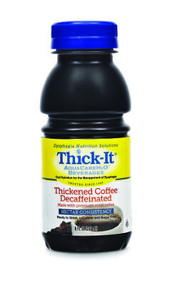 Thick-It Aquacare H2O Nectar Consistency Pre-thickened Coffee Decaf, 8oz 24ct