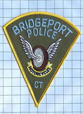 Police Patch - Connecticut - Bridgeport Motorcycles (Gold Border)