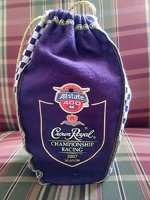 Crown Royal Allstate Brickyard 400 Championship Racing 2007 Empty Bottle and Bag