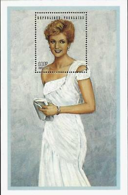1997 Princess Diana Chiffon Evening Dress  Commemorative Togo Ics Stamp Sheet Ld