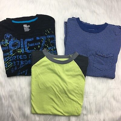 Lot of 3 Boy's Large T Shirts Childrens Place Circo Epic Threads Stripes Graphic