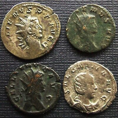 Roman Empire; A job lot of 4 AR and AE coins; various types and issues.
