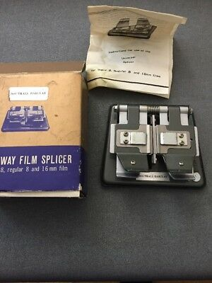 Universal Three Way Film Splicer for Regular 8, Super 8 & 16mm Film (k7)