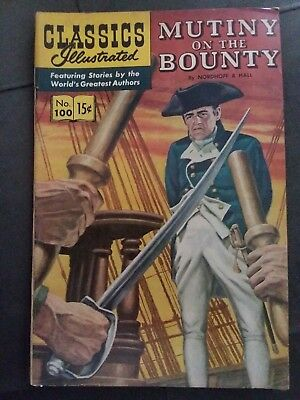 Classics Illustrated Mutiny On The Bounty 1 st Edition no. 100
