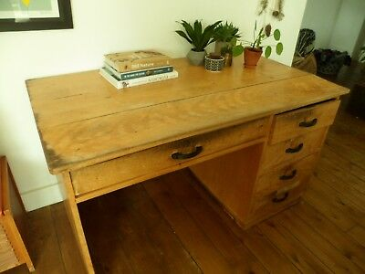 1950/60's Vintage SCHOOL Teachers DESK / Perfect for home office / Retro Upcycle