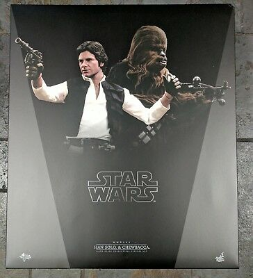 Sideshow 1/6 scale STAR WARS HAN SOLO & CHEWBACCA HOT TOYS EXCLUSIVE-BRAND NEW!
