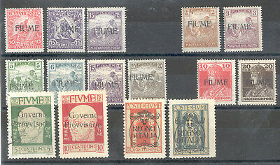 Fiume - Lot of Stamps Years 1918-1924 MH* (Mi.Nr.114 I: used)