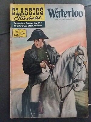 Classics Illustrated Waterloo no. 135 by Erckmann-Chatrian