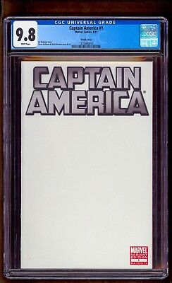 Captain America 1 Cgc 9.8 Sketch ** See All Our No Reserve Auctions