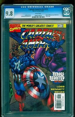 Captain America 12 (1997) Cgc 9.8 ** See All Our No Reserve Auctions