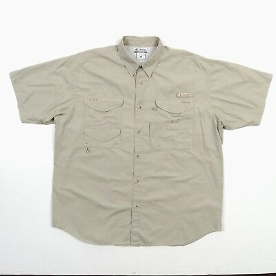 ed5a936f770 Columbia PFG Performance Fishing Gear Shirt Men's Vented Back + Pockets  Size XL