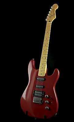 SQUIER II STRATOCASTER CONTEMPORARY HSS DAKOTA RED 80s KOREA RARE S1 SHORT BUILD