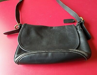 cca20b37eae0 COACH SOHO FLETCHER Black Leather  4150 Purse Crossbody Bag Vintage ...