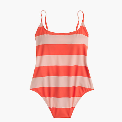 0fe23952660 NWT J. Crew Playa Printed Super-Scoopback One-Piece Swimsuit - Size Large