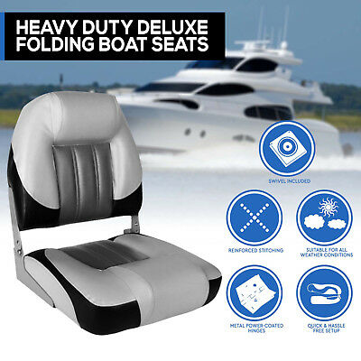 Heavy Duty Boat Seats Premium Boat Folding  w/ Swivels All Weather Bucket seat