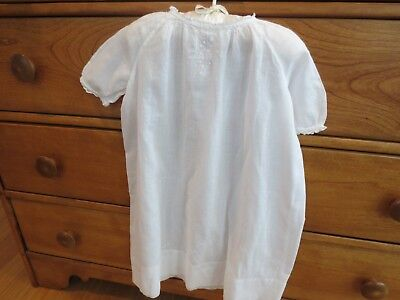 Vintage Antique Hand Sewn White Baby Christening Baptism Dress Gown