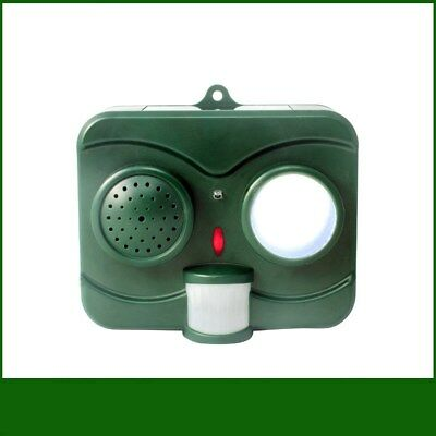 Ultrasonic Bird Snake Animal Repellent Solar Powered Pest Repeller with LED