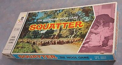 Vintage Squatter The Australian Wool Game - Complete 1961 Board Game - Boardgame