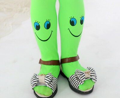 Fashion Kids Girl Smile Stocking Dance Tights Childrens Trousers Pantyhose#F-1