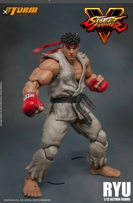 storm collectibles street fighter ryu lot white and blue suit