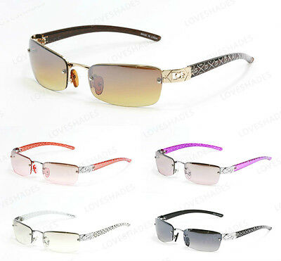 New Womens DG Small Rimless Rectangular Frame Sunglasses Classic Shades Fashion