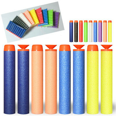 10pcs Bullet Darts For NERF Kids Toy Gun N-Strike Round Sucker Head Blasters