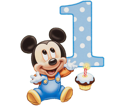 Set Of 12 Baby Mickey Mouse 1St Birthday 14X8 Size Cake Bags