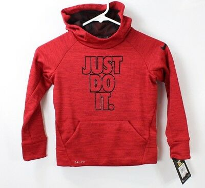 Nike Therma Little Boys Twist Training Hoodie University Red Heather size 4/XS