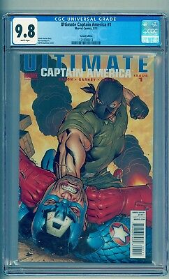 ULTIMATE CAPTAIN AMERICA 1 CGC 9.8 * 1 OF 3 ** ED McGUINESS VARIANT* NO RESERVE