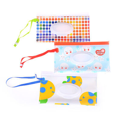 Wet Wipes Bag Cosmetic Pouch Easy-carry Snap-strap Wipes Container SRAU