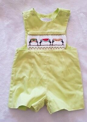 Ants picnic Carouselwear Smocked one piece lime green size 0