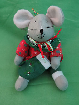 "7""  Plush Toy Mouse Christmas Tree Ornament"