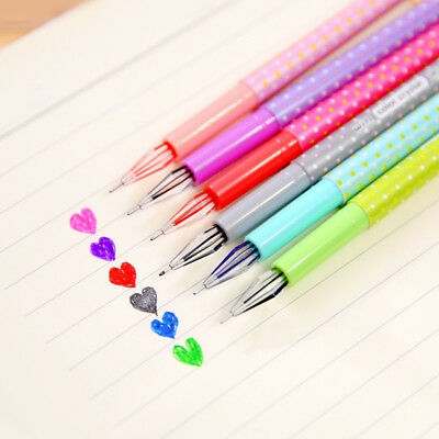 6 PCS/Sets Candy Colorful Gel Pen Cute Pens Canetas Material Escolar Stationery