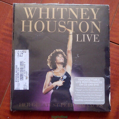 "Whitney Houston ""Live: Her Greatest Performances"" CD+DVD free shipping+free gift"