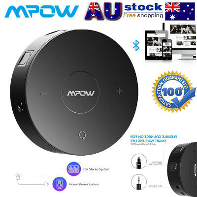 Mpow Bluetooth 4.1 Receiver Transmitter Wireless 3.5mm AUX Adapter fr Home TV PC