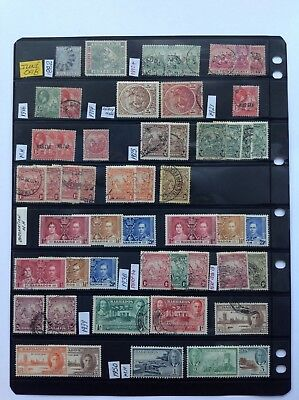 barbados stock sheet, mh & used x 53 stamps