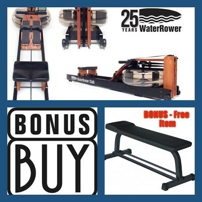 WaterRower CLUB Series Water Rower S4 + FREE Deluxe FLAT BENCH (Value $199)