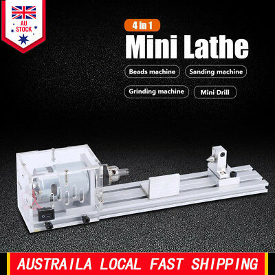 220V Mini Lathe Beads Machine Woodworking Polishing Cutting Drill Rotary Tools