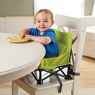 Summer Infant Pop and Sit Portable Booster, Green/Grey Feeding or Playtime Chair