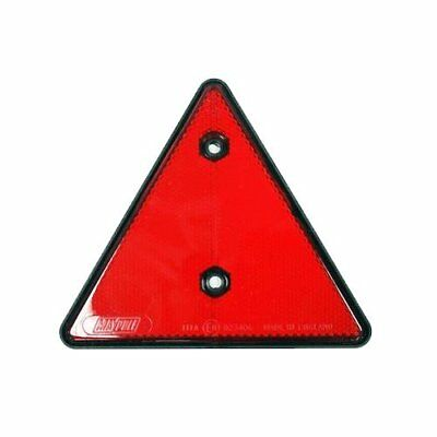 REFLECTOR (Single) - CARAVAN/TRUCK/TRAILER - 140mm RED - TRIANGLE Bolt-On
