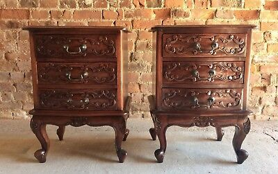 Fabulous Antique Style Mahogany Bedside Tables Chests Cabinets Night Stands