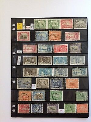 aden 1937 stock sheet, mh & used x 33 stamps