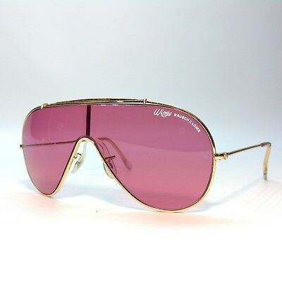 Vintage Bausch & Lomb / Ray Ban Wings Sunglasses Rare Pink