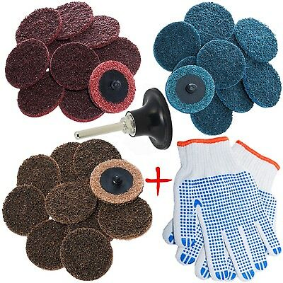 Roll Lock Sanding Discs Roloc Pad Holder for Air Die Grinder Drill 2 Inch 30 Pcs