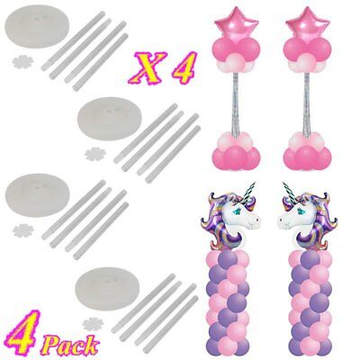 4Set Balloon Arch Frame Column Stand Builder Kit for Birthday Wedding Decoration